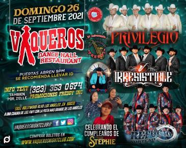 Privilegio / Irresistible / Refugio Norteno: