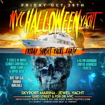 NYC Halloween Friday Sunset Ghost Yacht Cruise Skyport-img