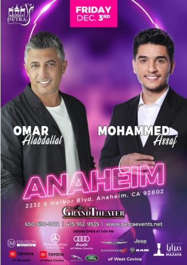 Mohammed Assaf & Omar Al-Abdallat Anaheim Concert: