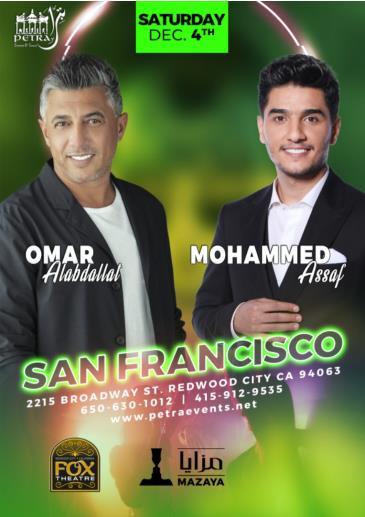Mohammed Assaf & Omar Al-Abdallat San Francisco Concert: