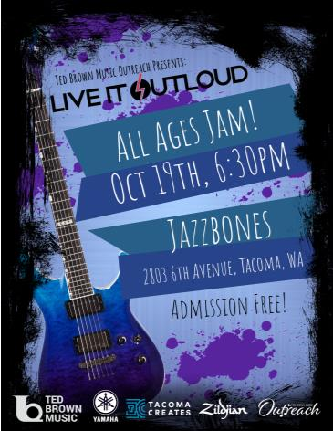 Ted Brown Music Presents: Live It Outloud (All Ages Jam):