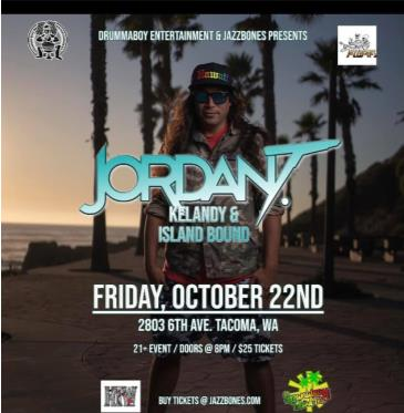 Jordan T with special guests Kelandy and Island Bound:
