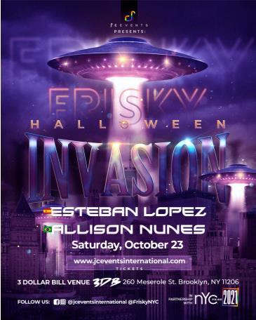 "FRISKY ""HALLOWEEN INVASION"":"
