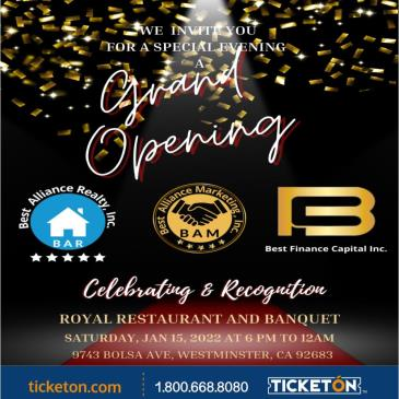 GRAND OPENING NEW YEAR GALA EVENT: