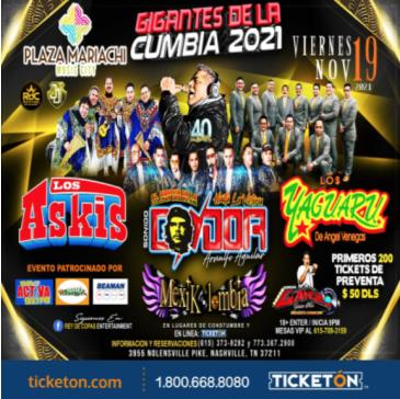 GIGANTES DE LA CUMBIA 2021: