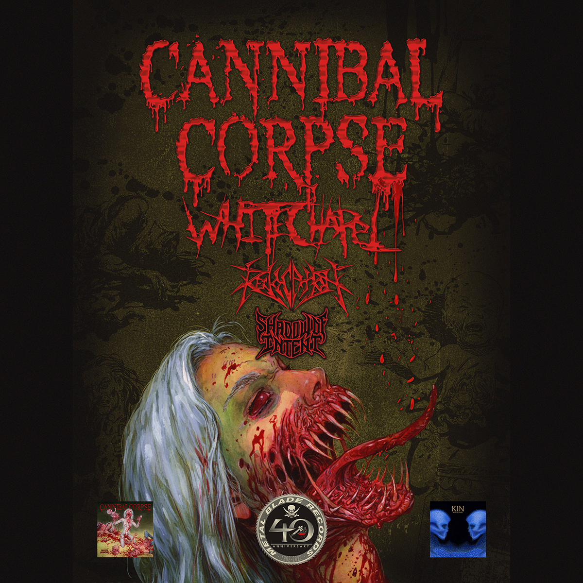 CANNIBAL CORPSE w/Whitechapel, Revocation & Shadow Of Intent